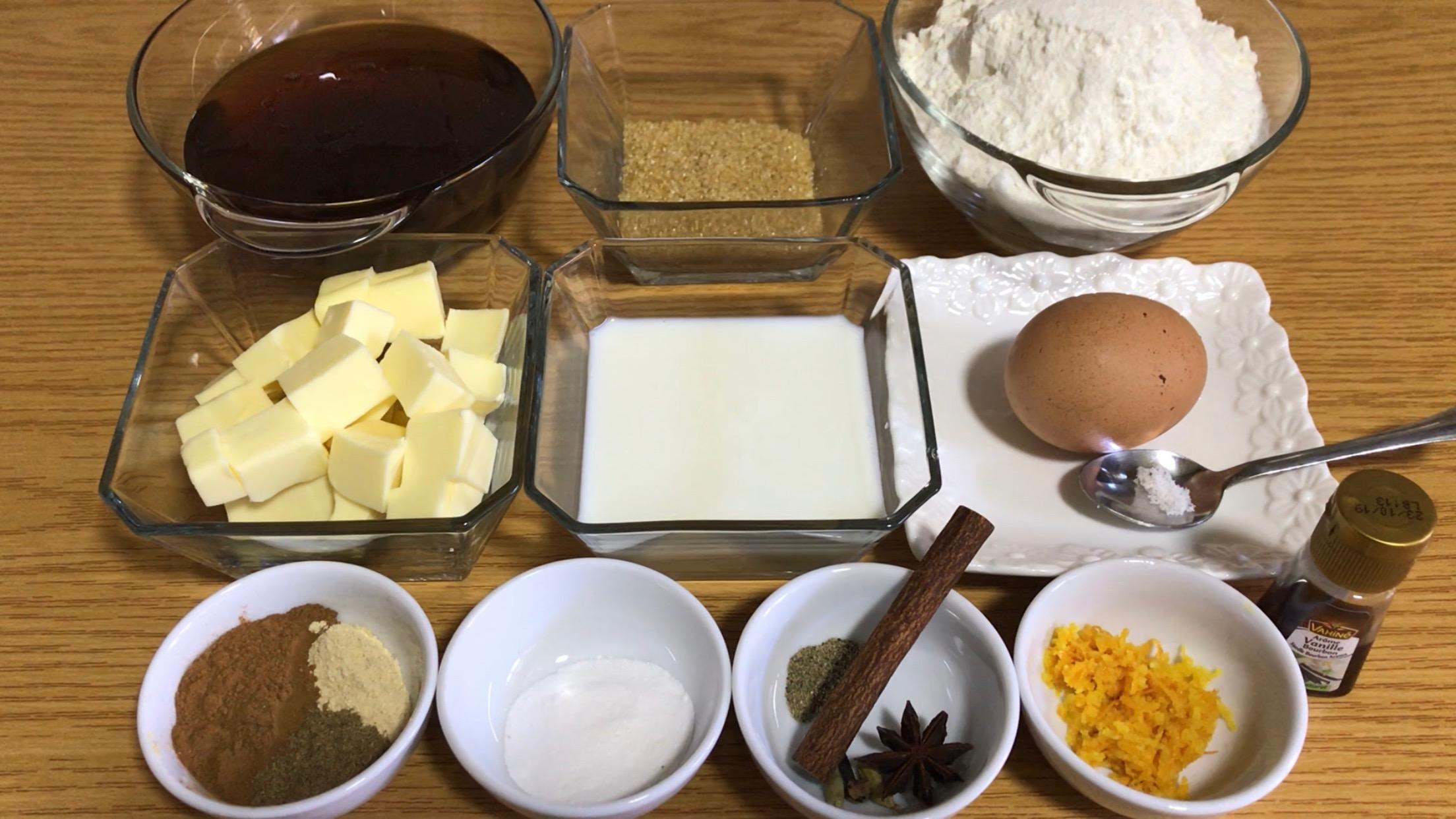 pain d'épices maison ingrédients