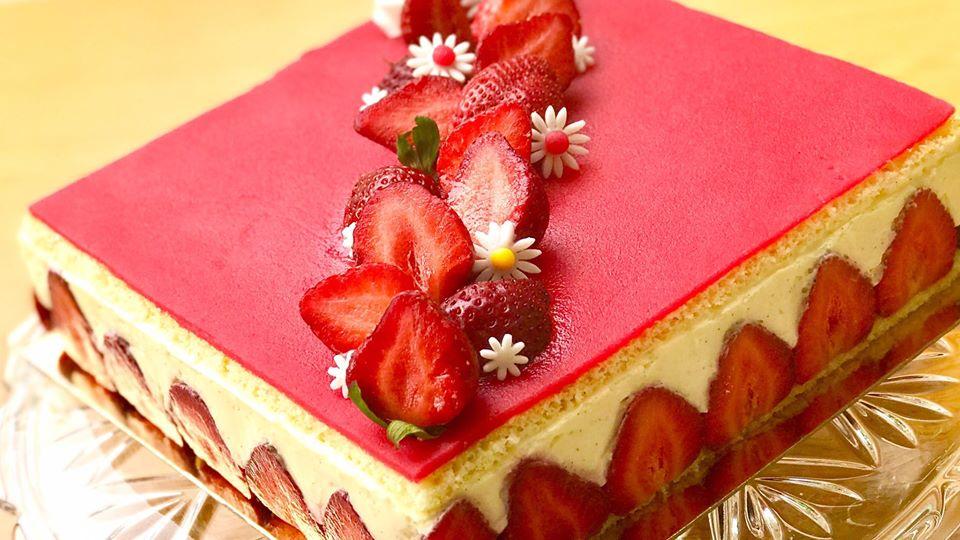 recette du fraisier crème diplomate