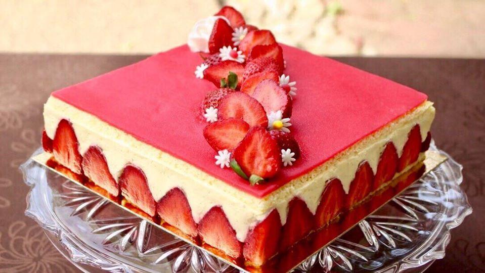 recette du fraisier crème mousseline