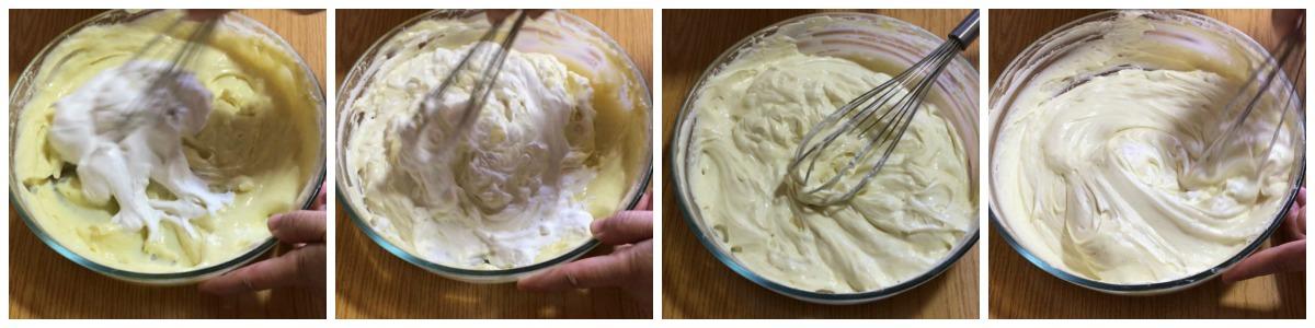 réaliser la crème diplomate avec la crème pâtissière