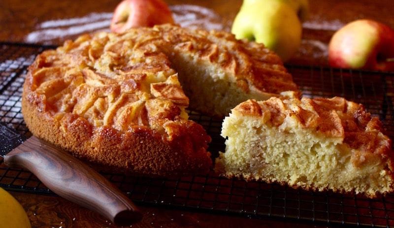 gâteau aux pommes cannelle et coco -recette gateau et cuisine rachida