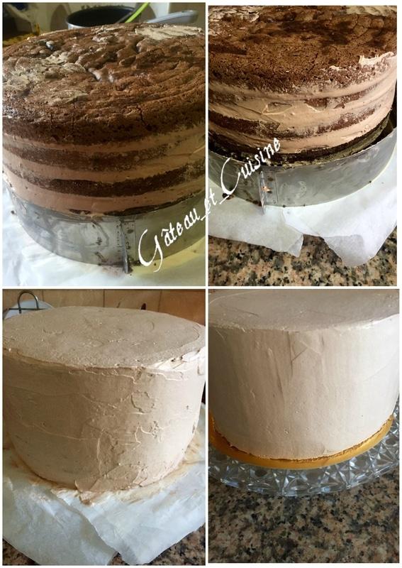 layer cake kinder bueno chocolat pas à pas en image