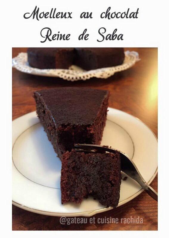 recette gâteau au chocolat reine de saba
