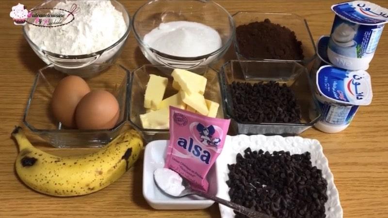 ingrédients muffin au chocolat