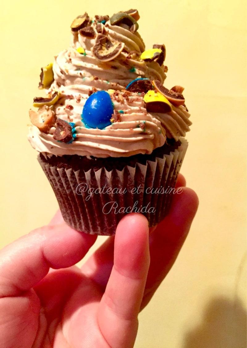 recette cup cakes chocolat et crème chantilly mascarpone chocolat