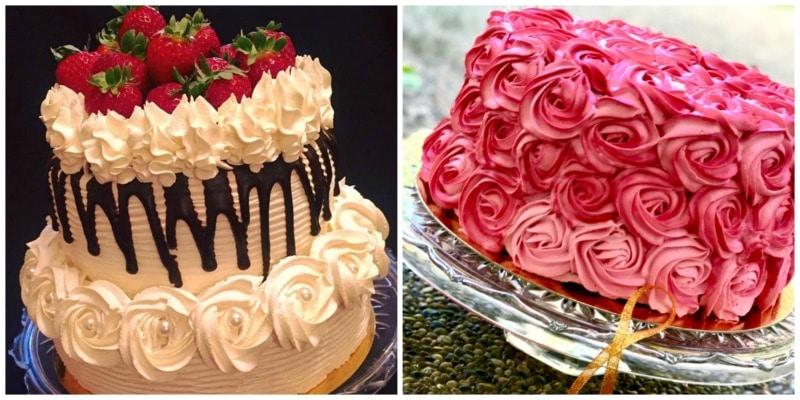 creme chantilly -rosecake et layer cake avec chantilly