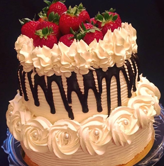 layer cake fraises et chantilly mascarpone