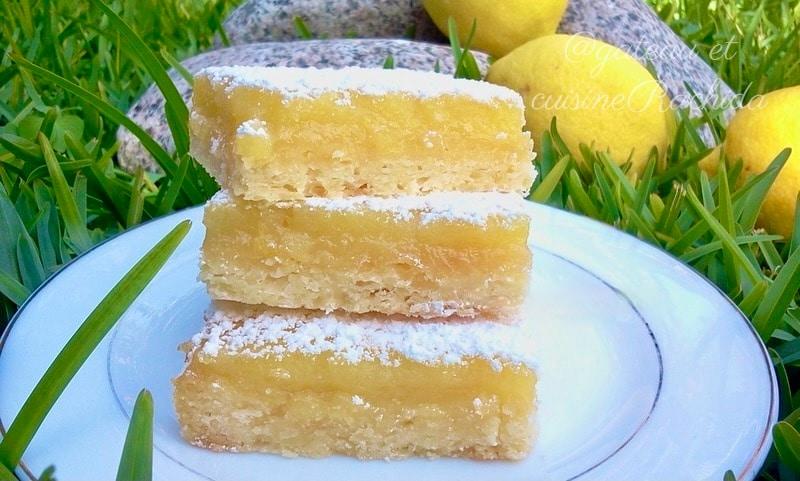 Recette carrés au citron avec pâte sablée facile