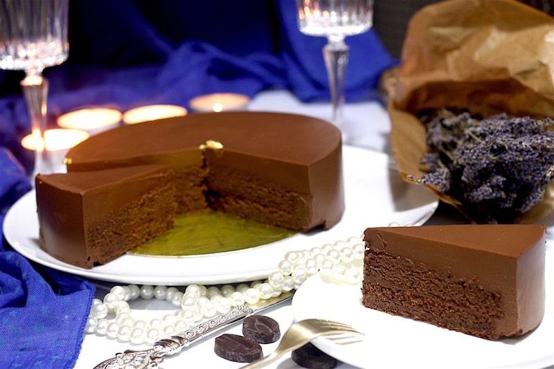 entremet chocolat palet or de valrhona