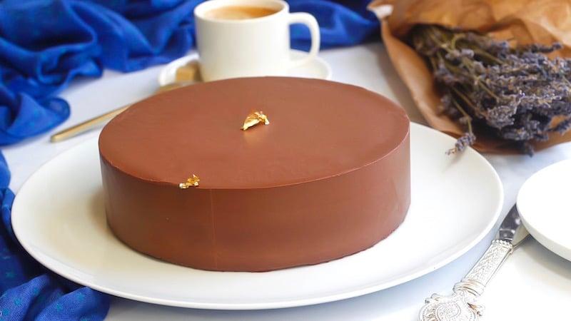 entremet chocolat - palet or de valrhona