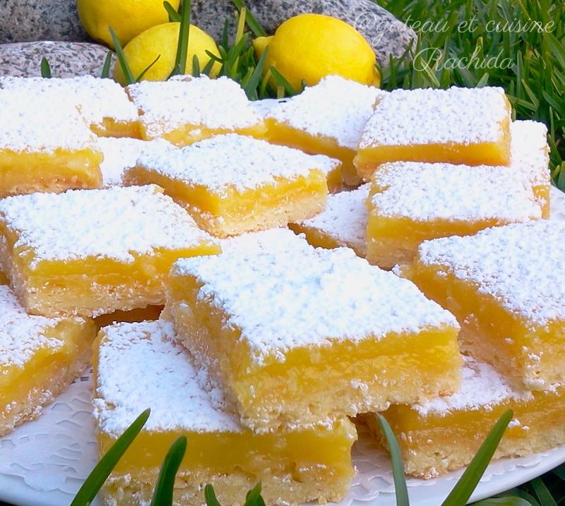 recette carrés au citron comme une tarte au citron facile