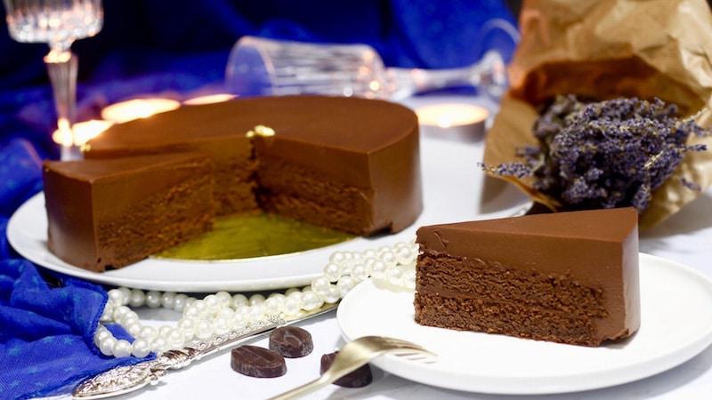 entremets au chocolat palet or de valrhona
