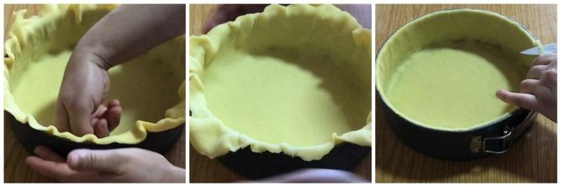 Flan pâtissier -foncer un moule pour flan- recette gateau et cuisine rachida