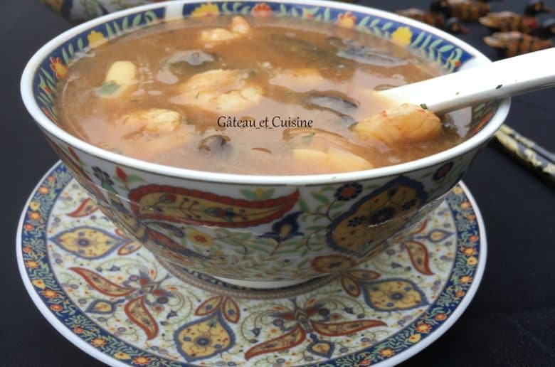 Soupe chinoise de poisson pour ramadan