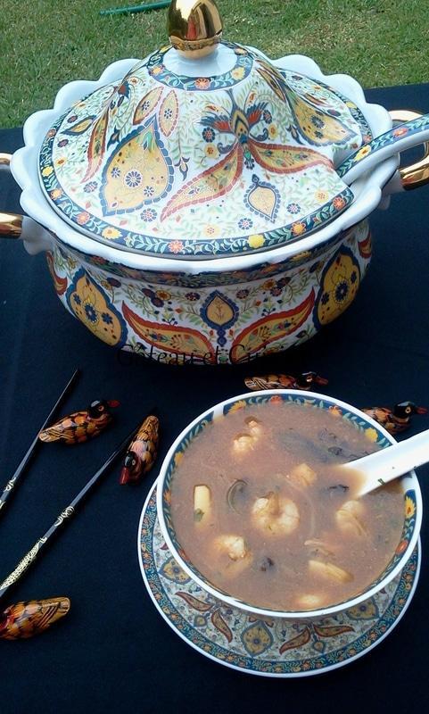 soupe chinoise aux fruits de mer idéale pour ramadan