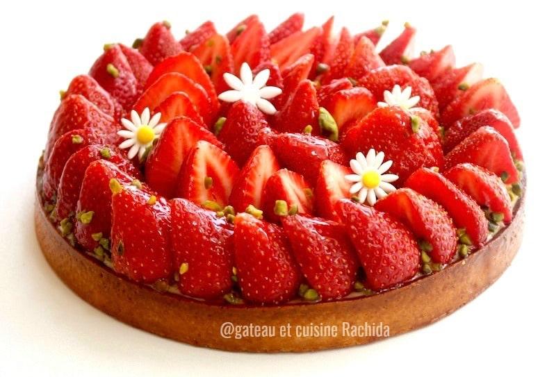 la tarte aux fraises à la crème pâtissière