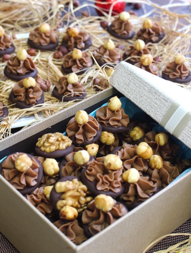 chocolat praliné gianduja / coffret de chocolat à offrir