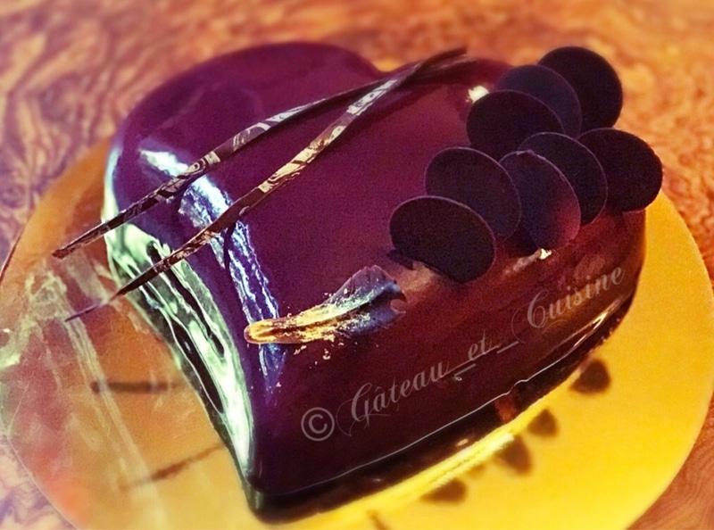 entremets coeur mousse noix de coco et insert passion