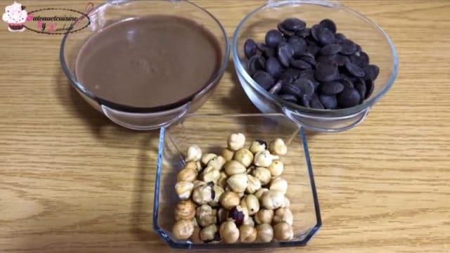 ingrédients chocolat maison praliné