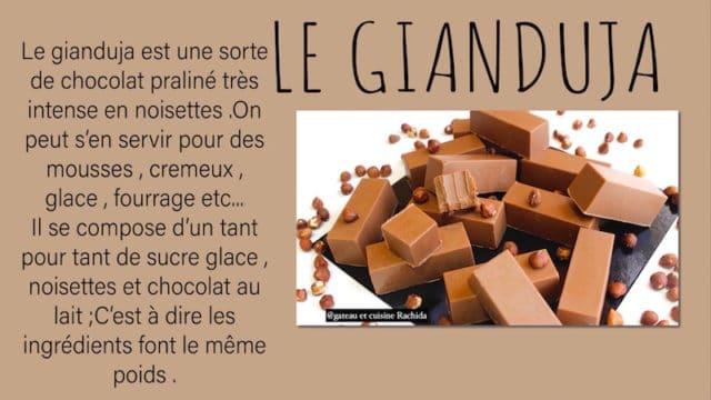 gianduja recette aux noisettes praliné et chocolat