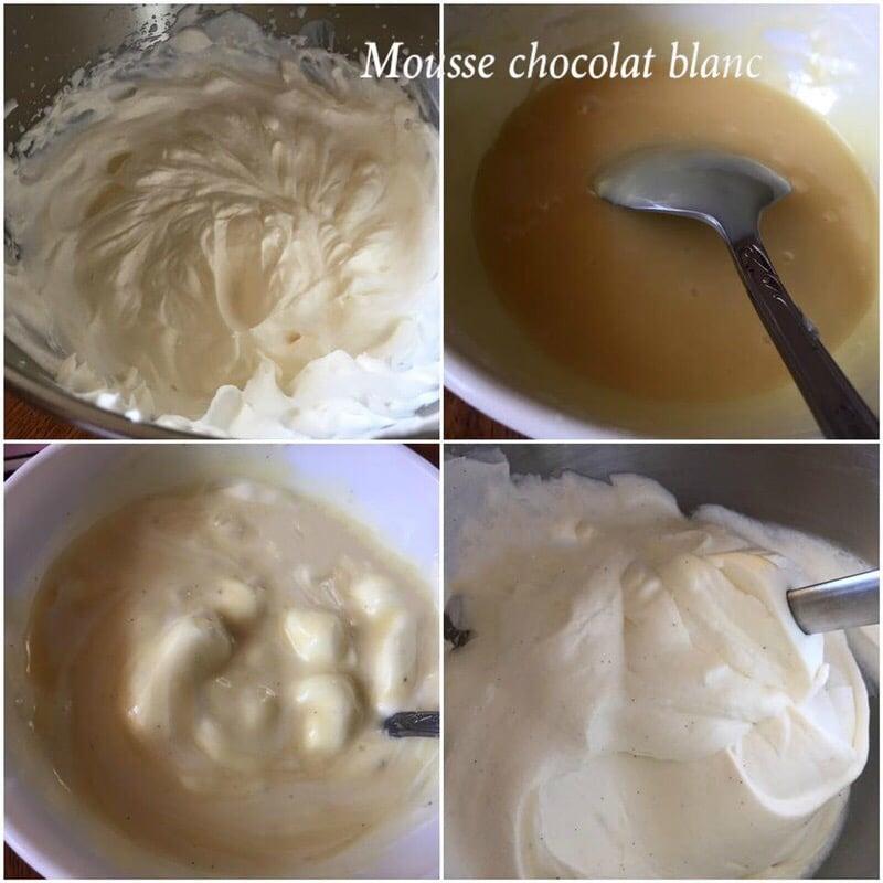 mousse au chocolat blanc vanille pour entremets 2 chocolats