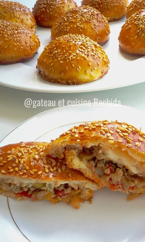 pain burger buns fourrés