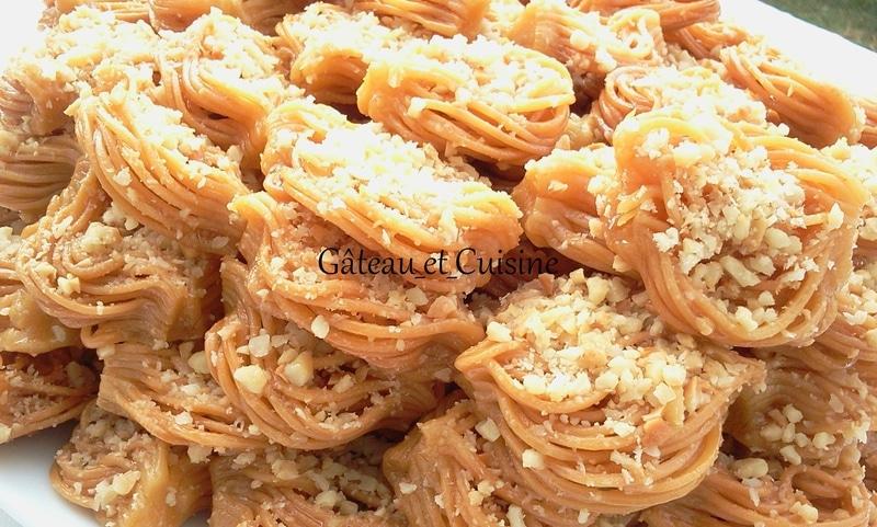 bouchnikha ,gâteau au miel et amande pour ramadan