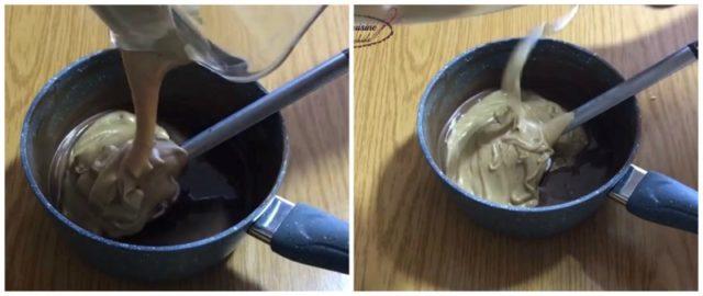 chocolat au lait valrhona avec la pâte de noisette ,le duja