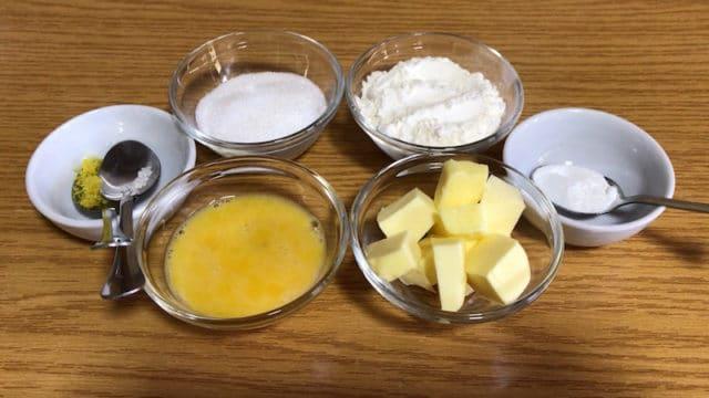ingrédients biscuit madeleine