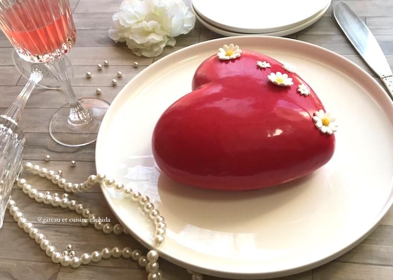 entremet fraise et framboise