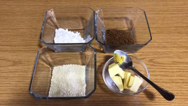 ingrédients pour streusel