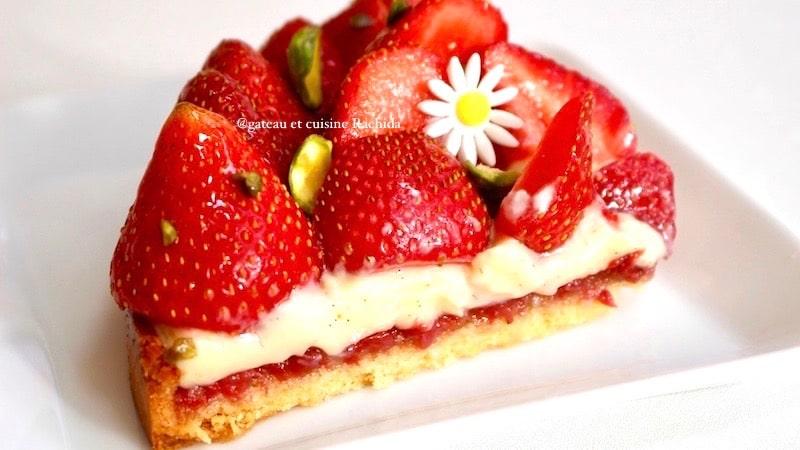 tarte aux fraise façon cédric grolet
