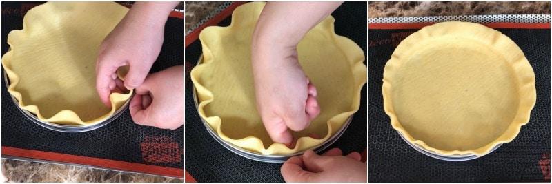 2.fonçage traditionnel pour tarte avec pâte sucrée