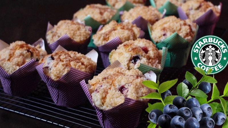 muffins myrtilles et crumble
