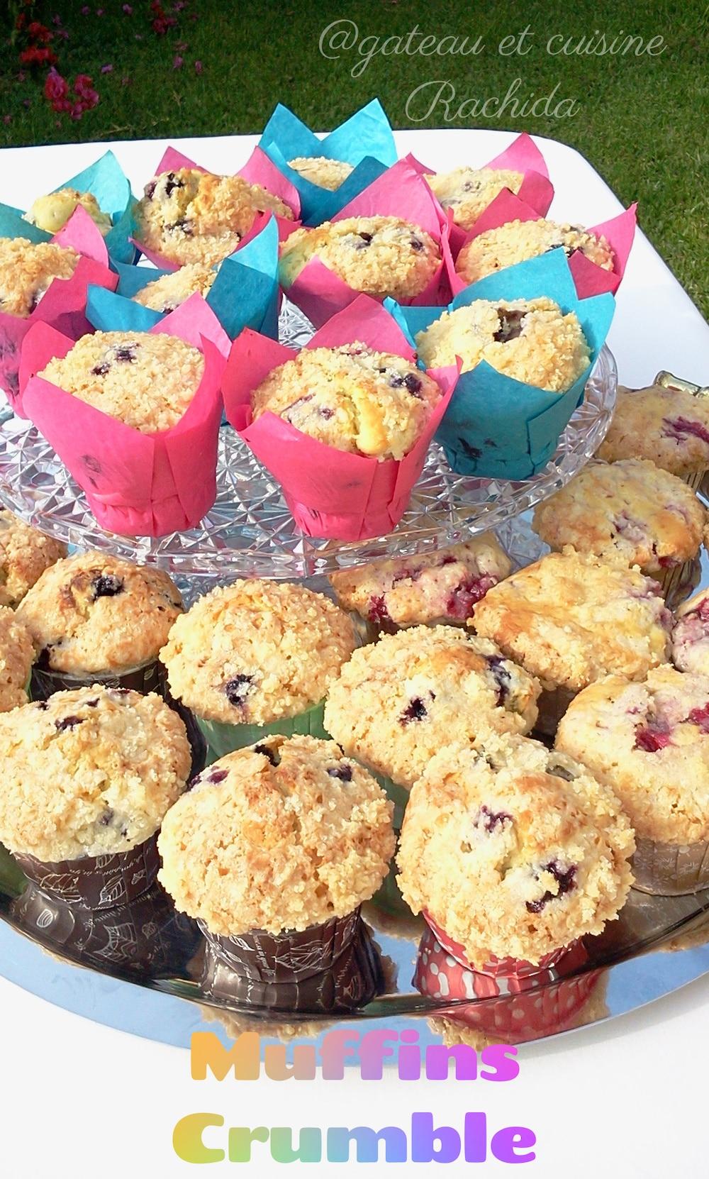 recette muffin myrtille et crumble