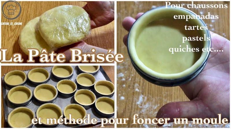 recettes pate brisée ,pâte à foncer-recette facile de pates brisée