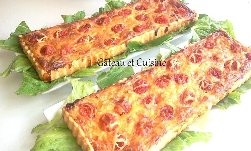recette facile de quiche au poireau et tomate cerises