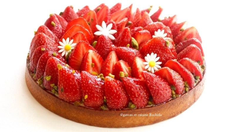 recette tarte aux fraises crème pâtissière