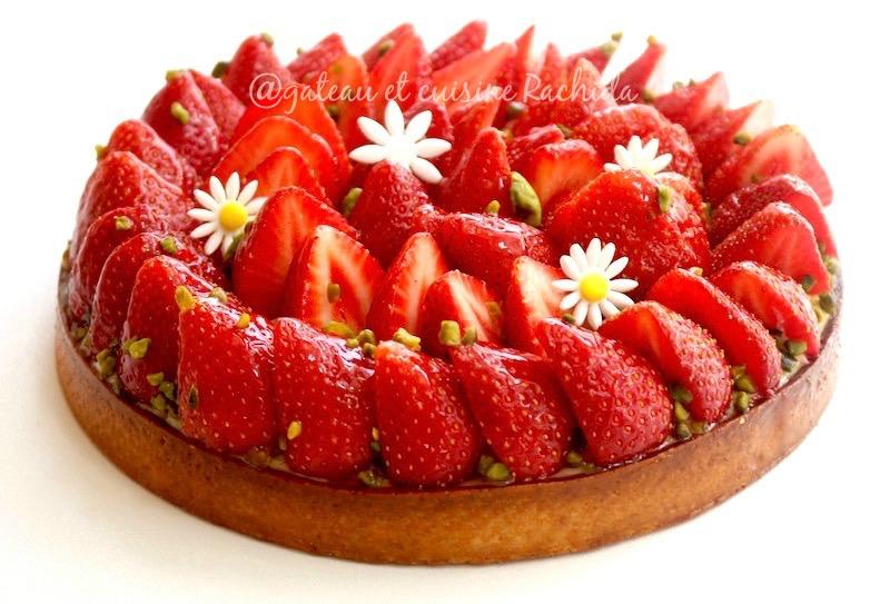 tarte aux fraise crème patissière-recette tarte aux fruits