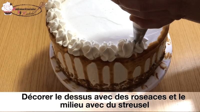 layer cake avec rosace ganache montée chocolat -recette facile