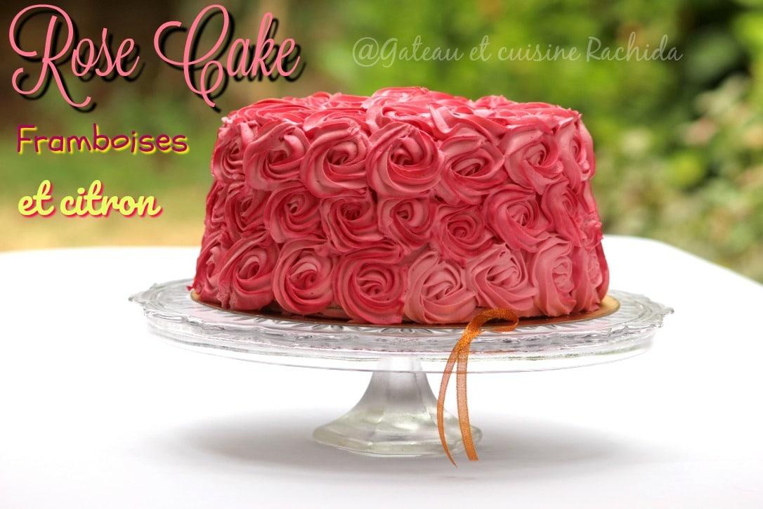 rose layer cake framboises et citron