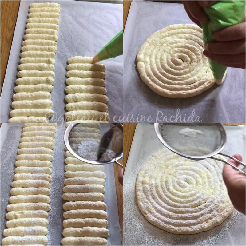 biscuit cuillère pochage gabarit pour cartouchière et boudoir charlotte et tiramisu