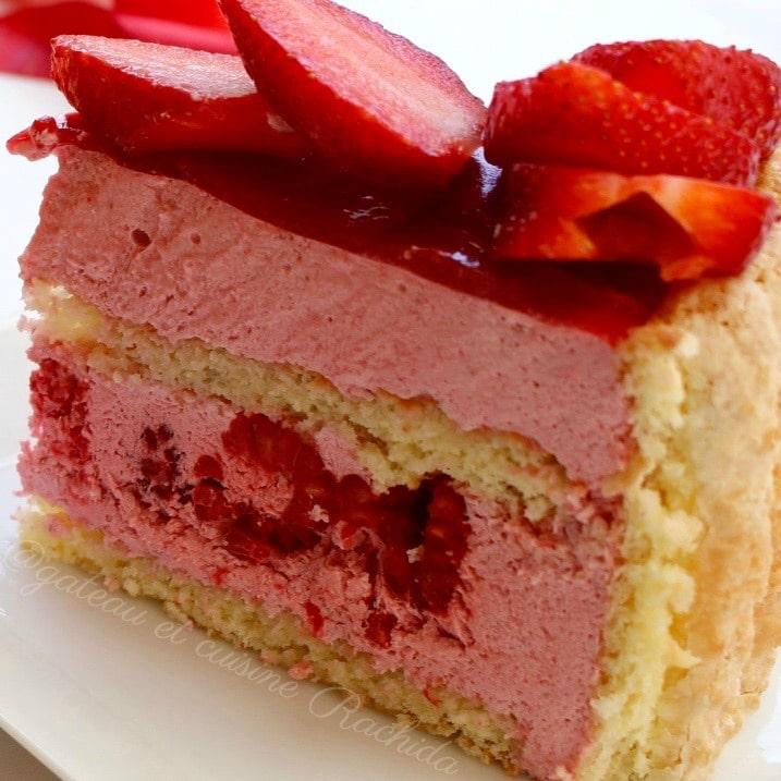 recette charlotte mousse fraise framboise sans oeufs