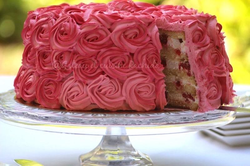 rose cake framboise citron et chantilly mascarpone