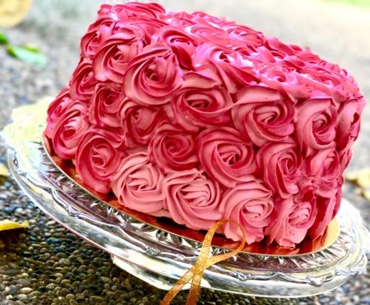 rose cake octobre rose -layer cake chantilly framboise et citron