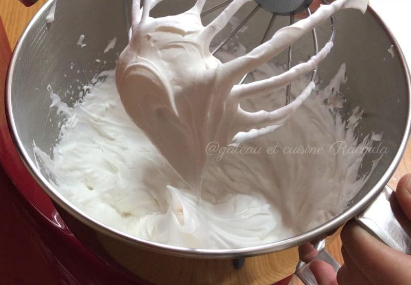 crème bavaroise -crème montée souple