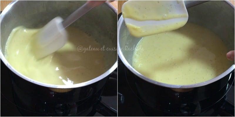 creme bavaroise avec base creme anglaise 4.