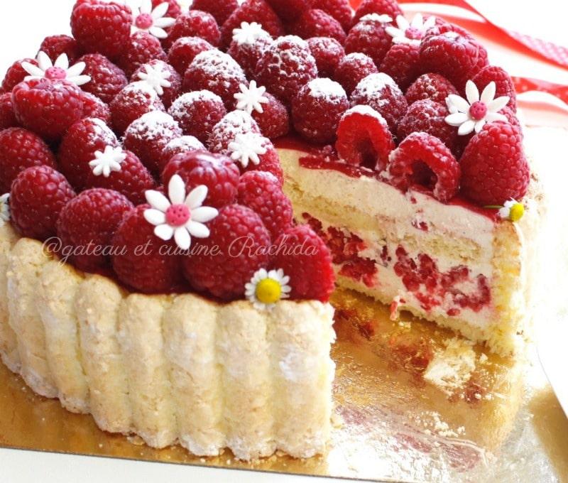 recette charlotte mousse vanille et framboise (bavaroise vanille)