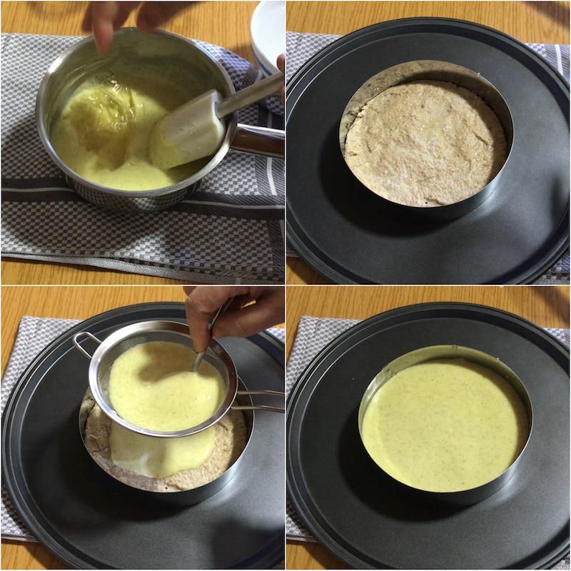 crémeux vanille sur dacquoise noisettes