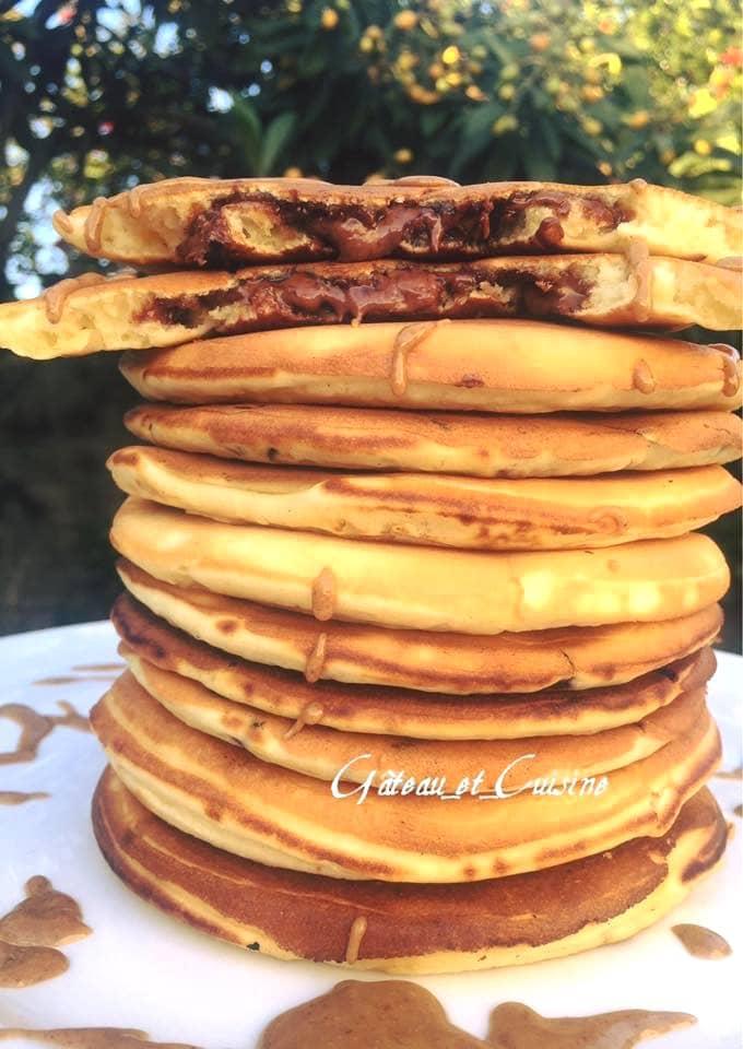 Pancakes très moelleux au nutella